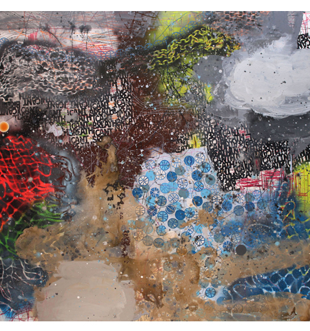 David Huffman painting titled I Can't Breathe 3