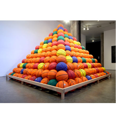 Basketball Pyramid by artist David Huffman