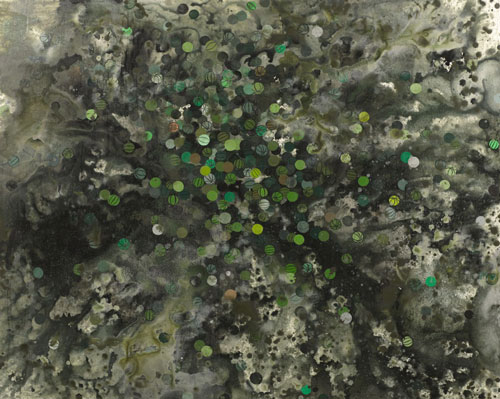 painting by David Huffman, titled Collard, Green featured in the Washington City Parer's review of Next Generation